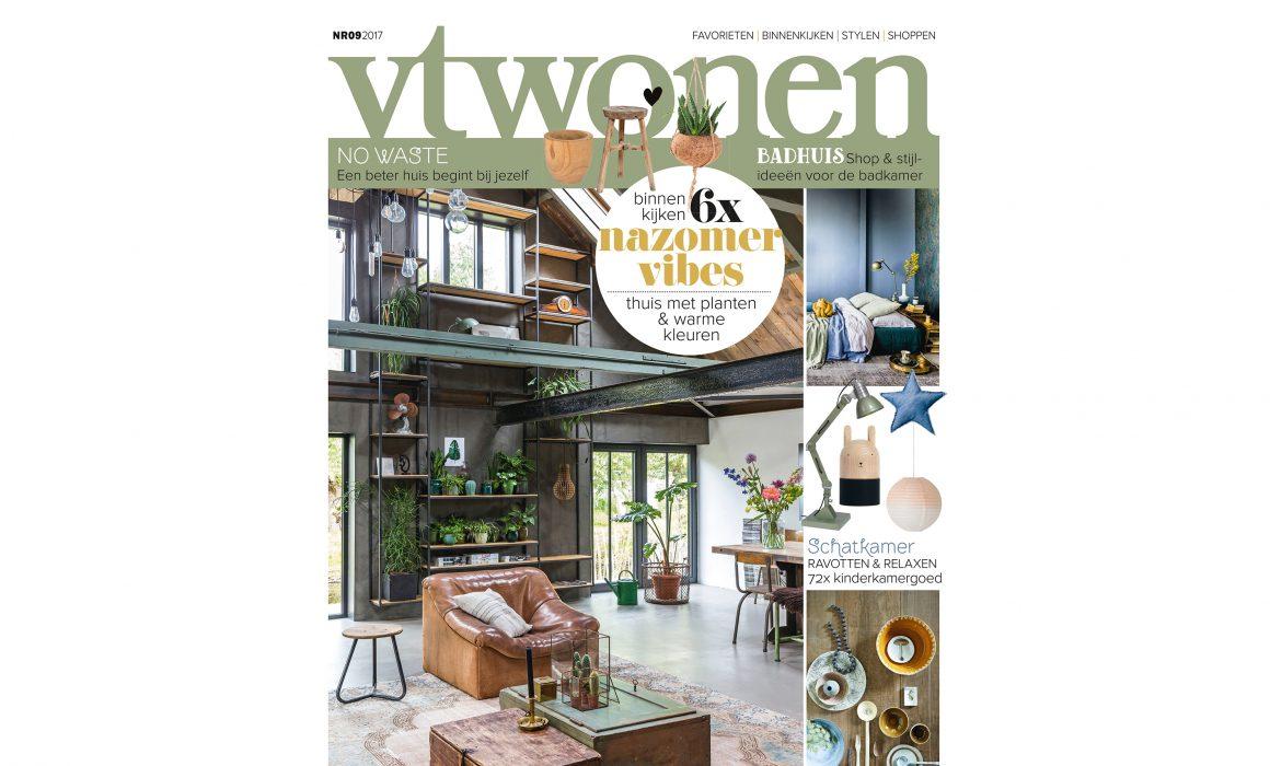Cover van VT Wonen uit 2017 met op de voorkant een woonkamer met een grote wandkast.