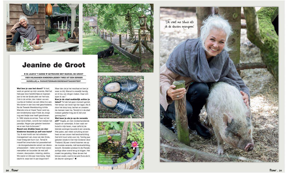 Portret van Jeanine de Groot in Flow magazine